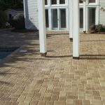 sandy tan pavers used for patio hardscape design