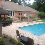 top view of backyard hardscape designs