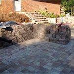 progress on backyard hardscape designs