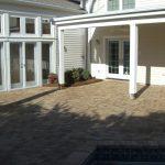 finished photo of patio hardscape install