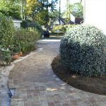 walk way from paver stones