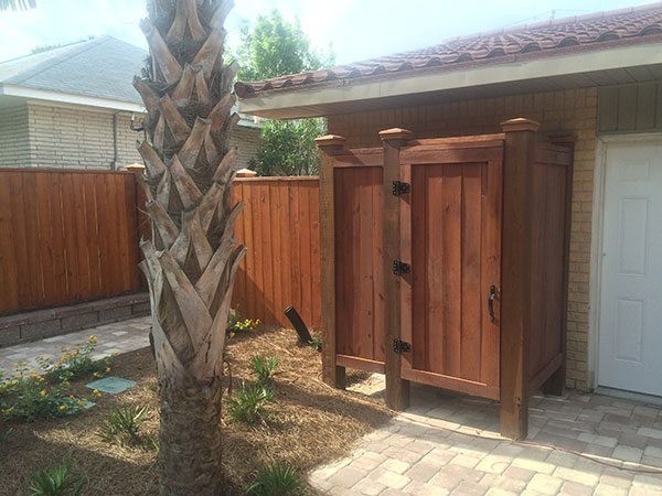residential outside pool shower