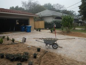 pavers being placed in driveway